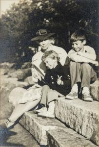 Mary Lowber Sailer with Two Grandchildren