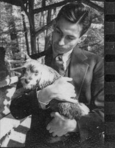 William Wilson White with Dog