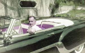 William Wilson White in Pontiac Convertible